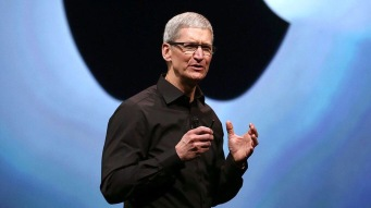 CEO Tim Cook at the Apple event