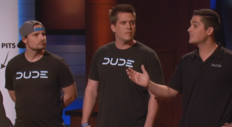 The DUDE founders on Shark Tank