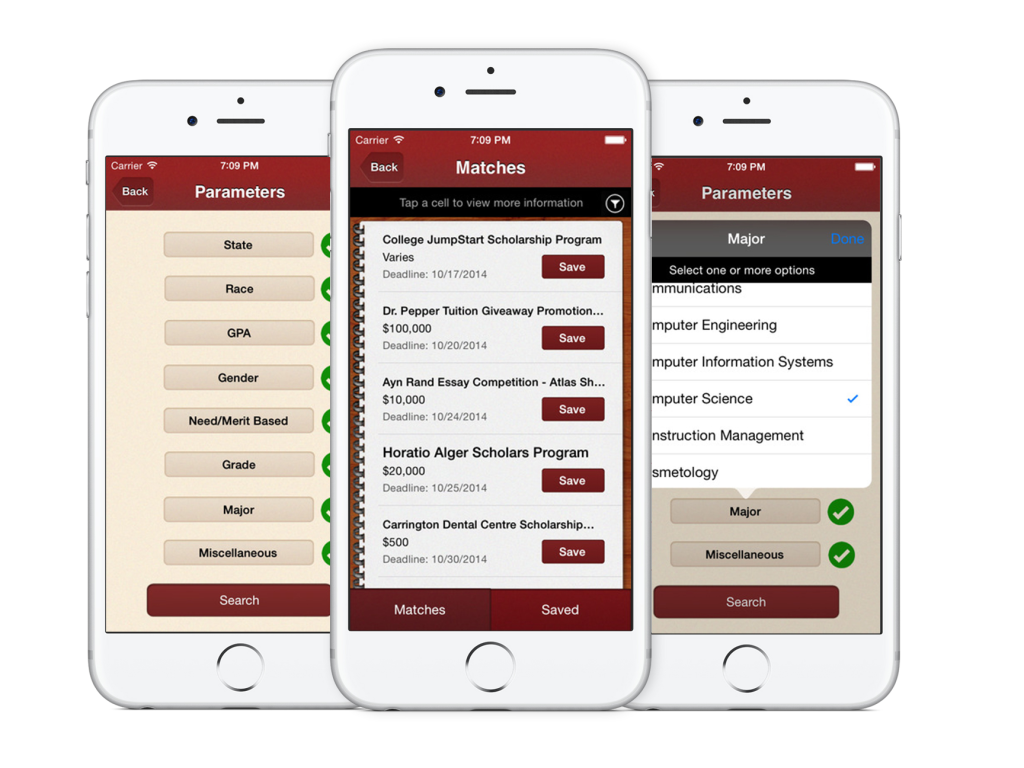 The Scholly app on IOS