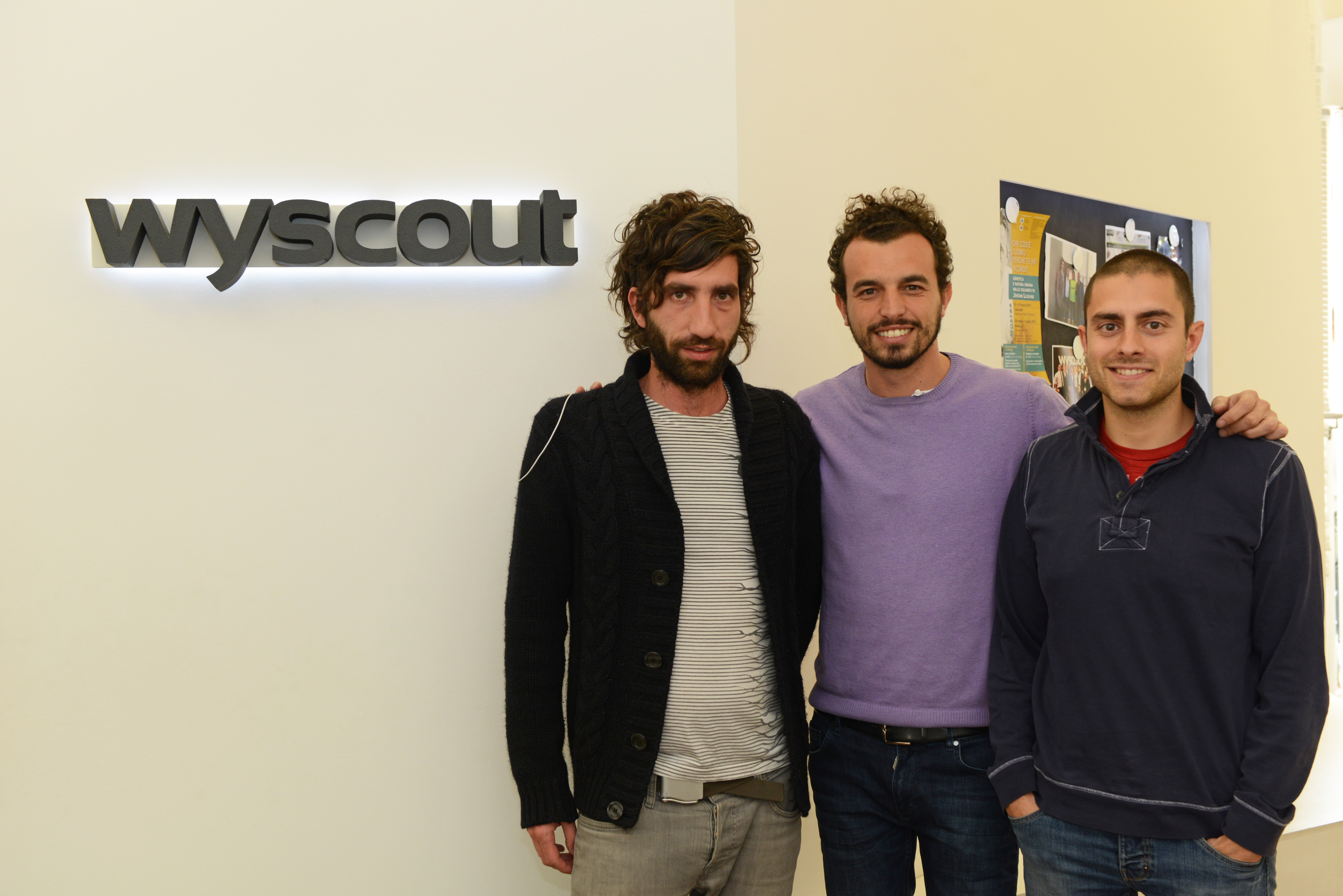Wyscout Founder and CEO Matteo Campodonico  (Centre)