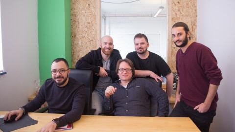 Quiqup co-founder Bassel El Koussa (far left)